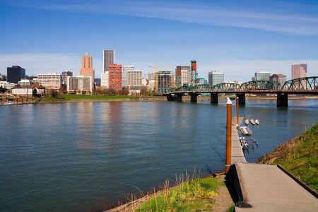 riverfront: Portland downtown (Oregon state)