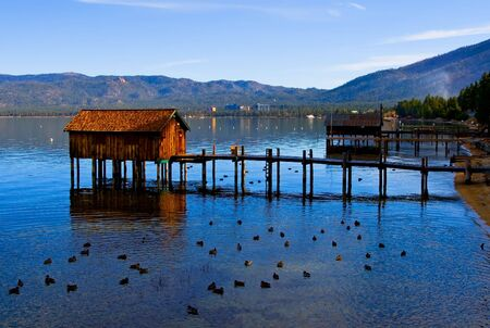 Little cabins on the Lake Tahoe photo