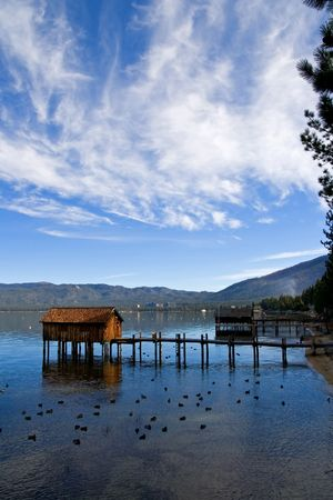 south lake tahoe: Little cabins on the Lake Tahoe