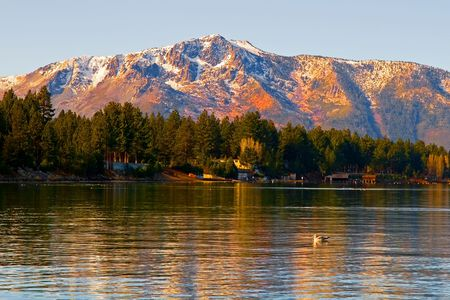 nevada: Lake Tahoe at sunset