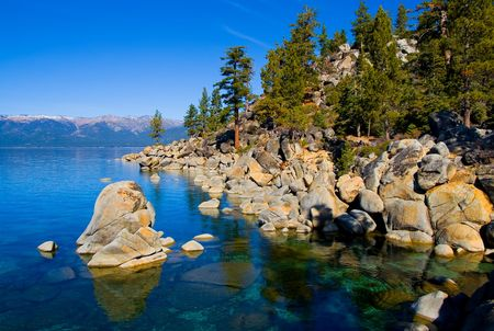 lake shore:   Lake Tahoe in Summer