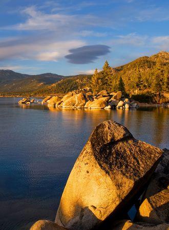 Lake Tahoe at sunset Stock Photo - 6148812