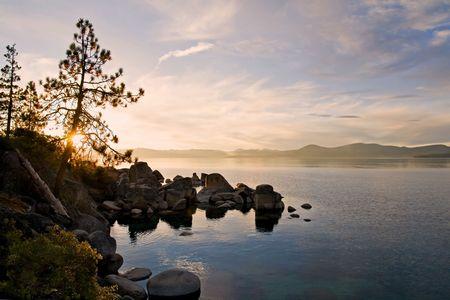 Lake Tahoe at sunset Stock Photo - 6148732
