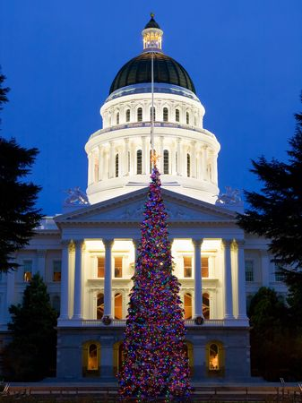 capitol christmas tree in sacramento california stock photo 6148734
