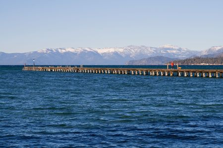 Pier at Lake Tahoe photo