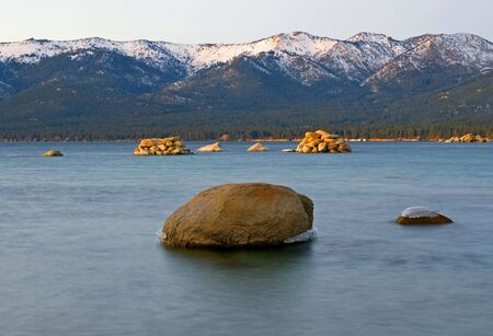 Lake Tahoe after sunset Stock Photo - 6148801