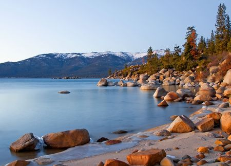 emerald stone:  Lake Tahoe after sunset