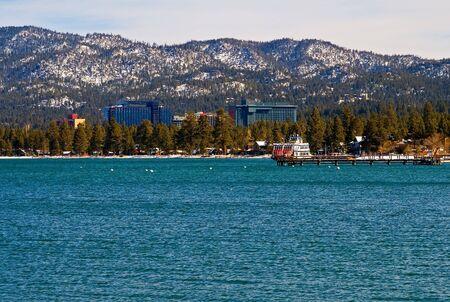 south lake tahoe: South Lake Tahoe in winter Stock Photo