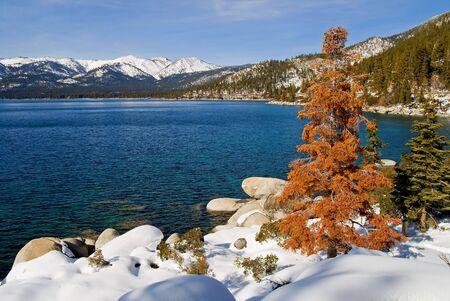 Lake Tahoe in winter  photo