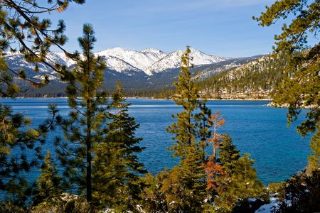 Lake Tahoe in winter Stock Photo - 6147138
