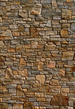 Kleurrijke oude steen wand structuur, achtergrond Stockfoto