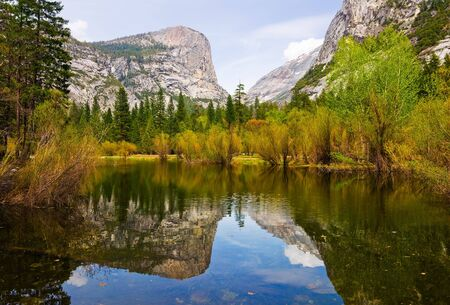 Mirror Lake in Yosemite National Park photo