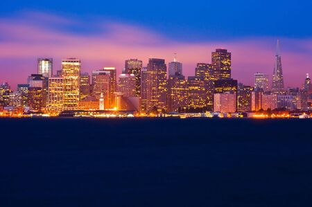 San Francisco skyline at night photo