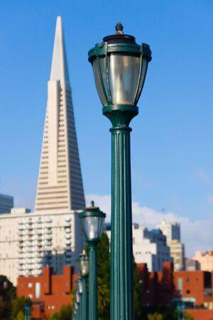 Lamp post in San Francisco photo