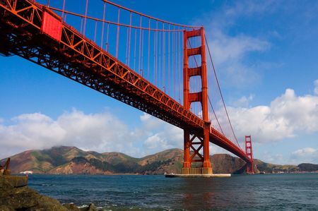 Golden Gate Bridge with cloudy sky Stock Photo - 6292000