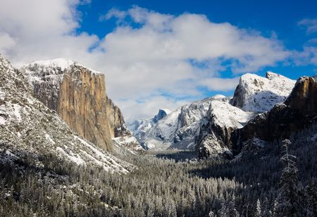 Yosemite Valley in winter photo