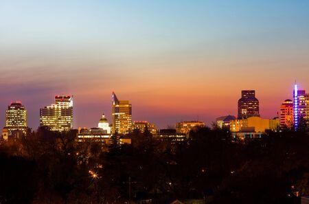 downtown capitol: Sacramento at night