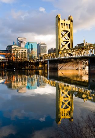 Tower Bridge in Sacramento California photo