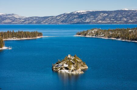 fannette: Emerald Bay in winter, Lake Tahoe Stock Photo
