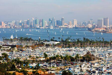 diego:  San Diego skyline on a foggy day