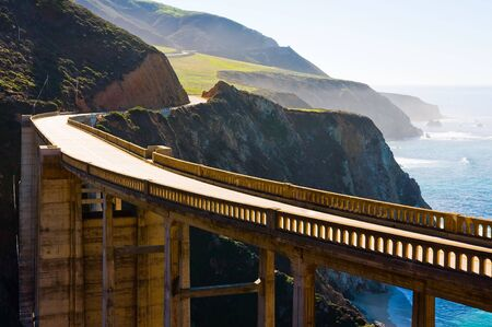 rocky road: Bixby Bridge in Big Sur California