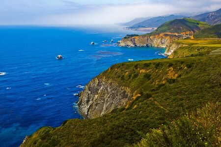 california coast: Costa de California de Big Sur  Foto de archivo