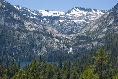 Big snowy mountain next to Lake Tahoe Stock Photo - 6548012