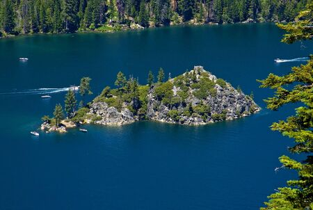 Fanette Island in Lake Tahoe California Stock Photo - 6548008