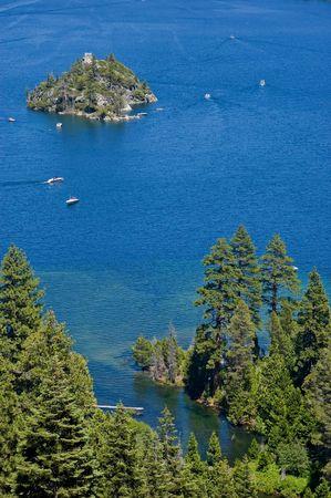 Fanette Island in Lake Tahoe California photo