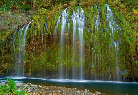 Waterfall in the mountains in Northern California