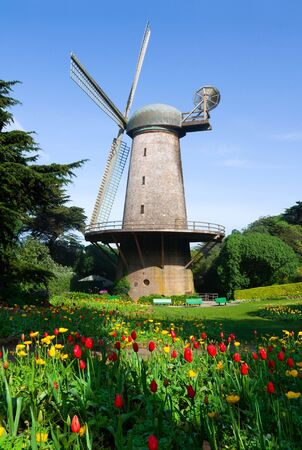 dutch: Dutch windmill in San Francisco Stock Photo