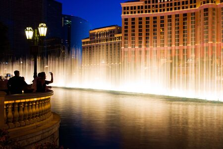 Fountains in Las Vegas at night