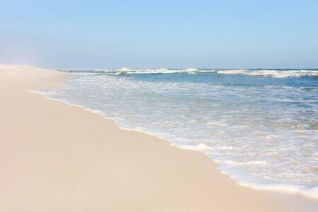 White sand beach in Florida Stock Photo