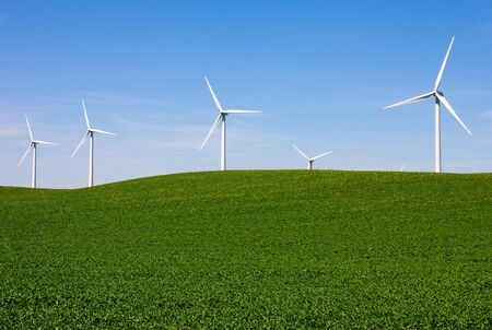 Wind turbines farm Stock Photo - 7066556