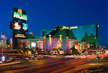LAS VEGAS - JUNE 4: The MGM Grand Hotel & Casino on June 4, 2010 in Las Vegas, Nevada. The MGM Grand opened on  December 18, 1993 and it  was the largest hotel in the world when it opened. Editorial