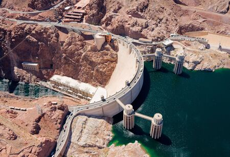 Aerial view of Hoover Dam photo