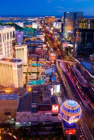 las vegas: LAS VEGAS - JUNE 3: An aerial view of Las Vegas strip on June 3, 2010 in Las Vegas. The strip is approximately 4.2 mi (6.8 km) long.