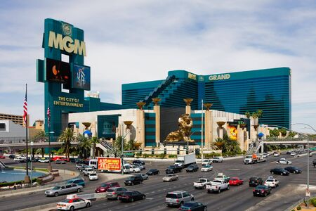 LAS VEGAS - JUNE 3: The MGM Grand Hotel & Casino on June 3, 2010 in Las Vegas, Nevada. The MGM Grand opened on December 18, 1993 and it was the largest hotel in the world when it opened. Stock Photo - 7223739