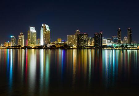 diego: San Diego skyline at night