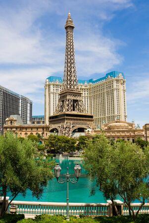 LAS VEGAS - JUNE 3: Paris Las Vegas on June 3, 2010 in Las Vegas. It includes a half scale, 541 foot (164.6 m) replica of Eiffel Tower. Paris cost $785 million to build and opened September 1, 1999. Stock Photo - 7559006