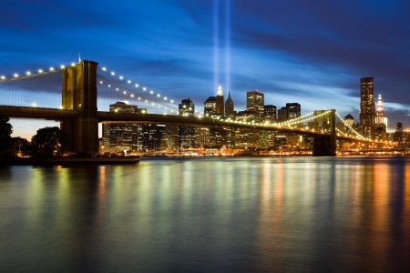911 Light Memorial in New York City photo