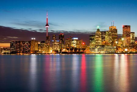 Toronto at night, Canada