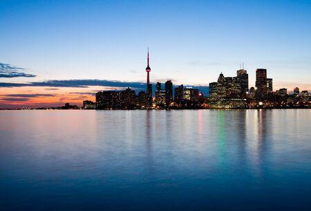 Toronto at night, Canada  photo