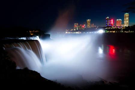 niagara falls city: Niagara Falls at night