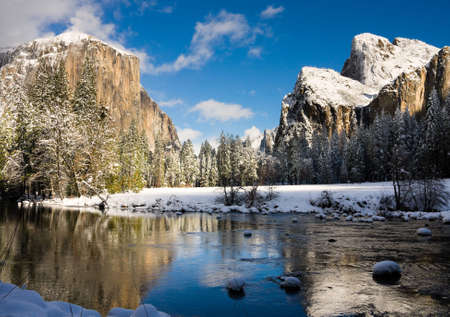 Yosemite Valley in winter photo