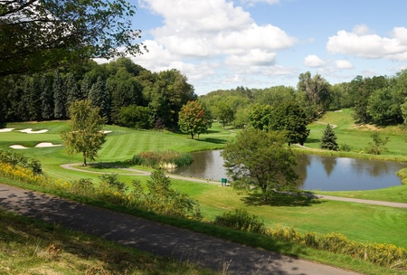 country club: Golf Course in upstate New York