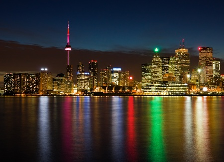 toronto: Toronto at night, Canada