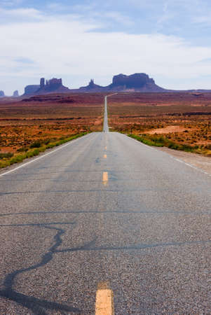 Highway 163 in Monument Valley Stock Photo - 9837438