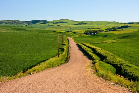 Country road in eastern Idaho photo