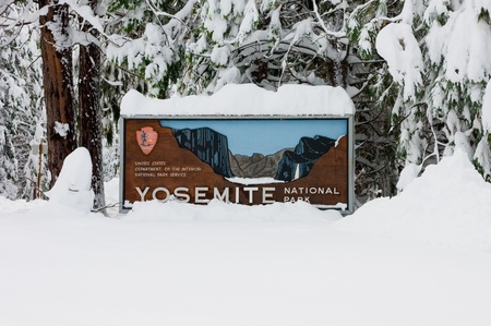 Main entrance to Yosemite National Park, California  photo